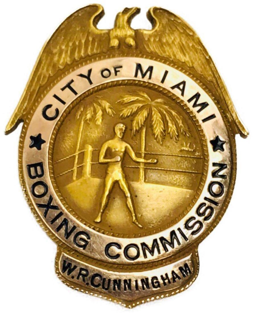 Rare Vintage Obsolete City of Miami Boxing Commission