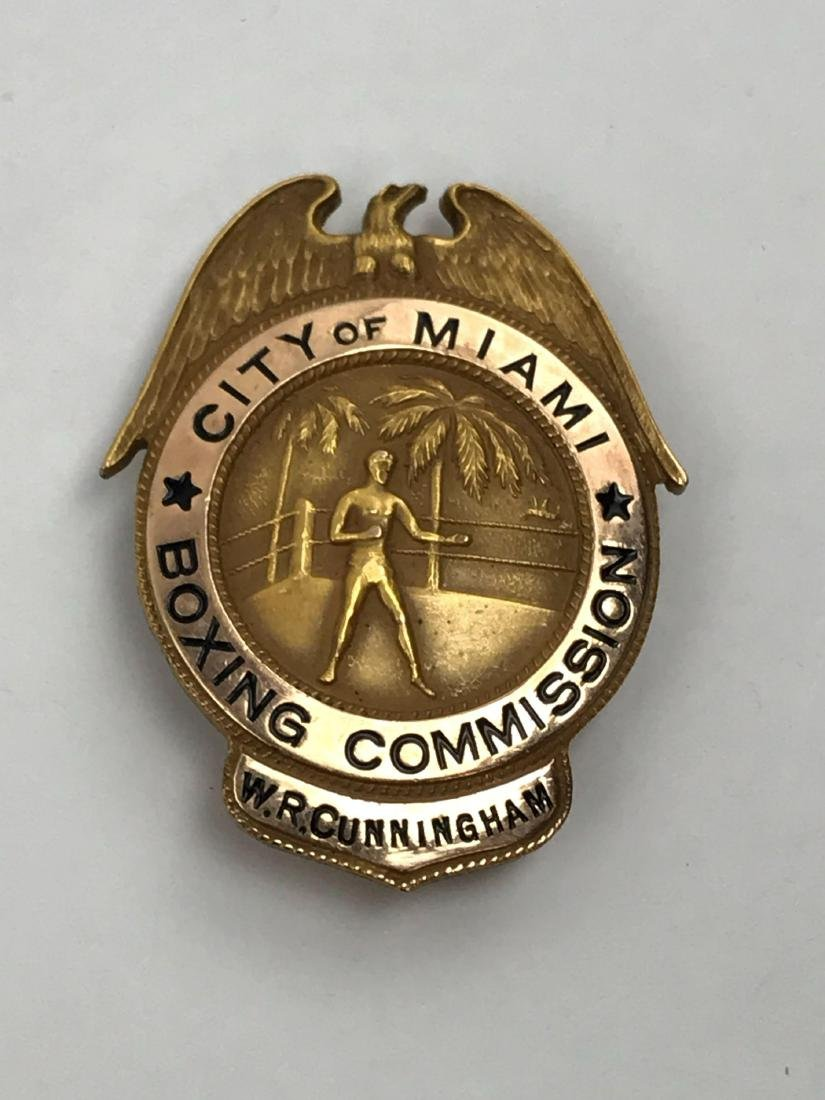 Rare Vintage Obsolete City of Miami Boxing Commission - 2