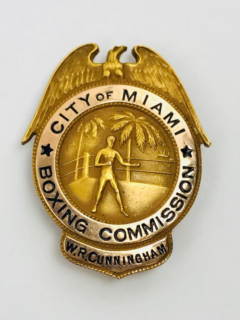 Rare Vintage Obsolete City of Miami Boxing Commission - 3