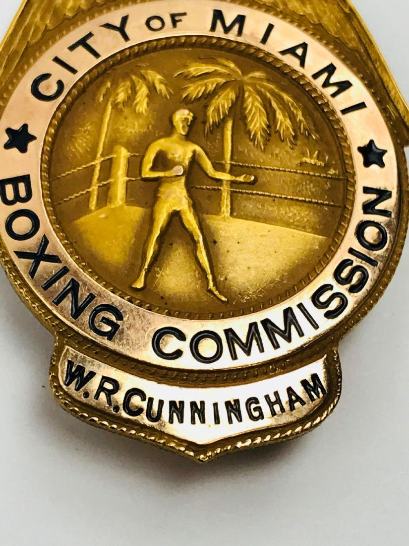 Rare Vintage Obsolete City of Miami Boxing Commission - 4