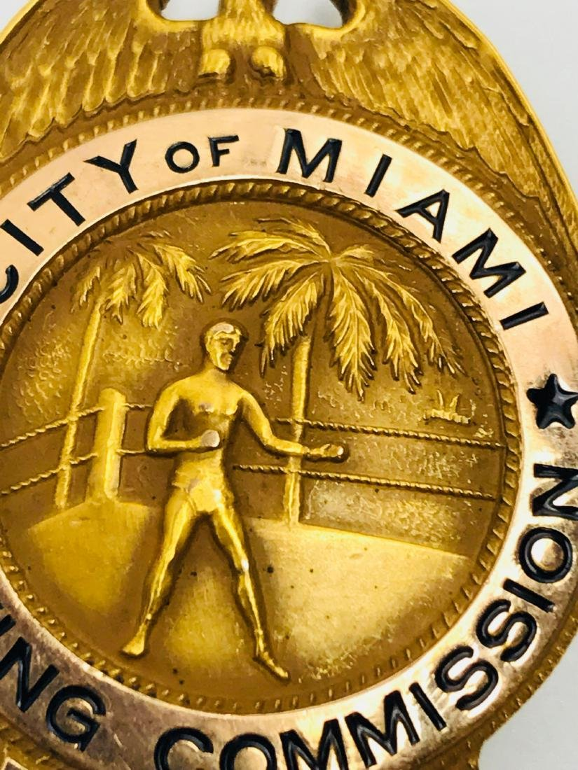 Rare Vintage Obsolete City of Miami Boxing Commission - 5