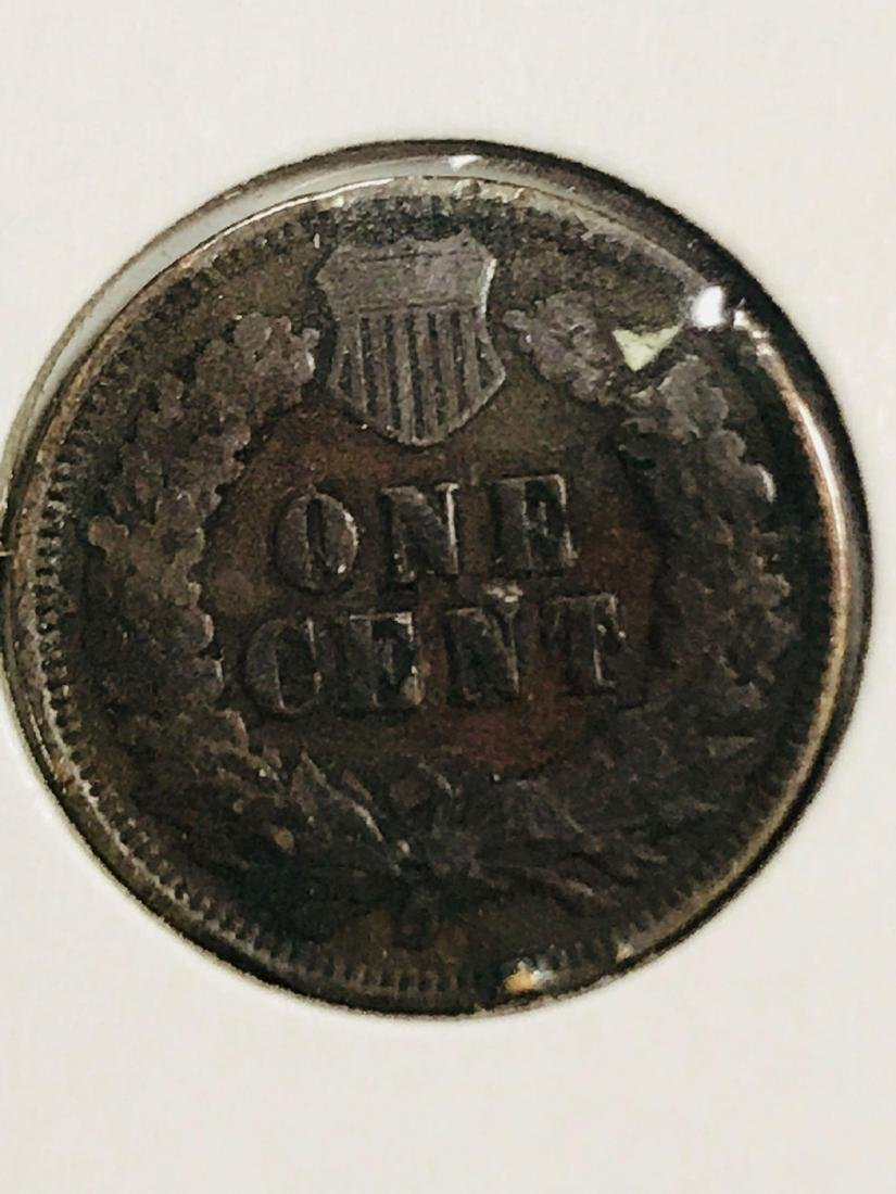 6 Antique Indian Head Penny One Cent Coin - 10