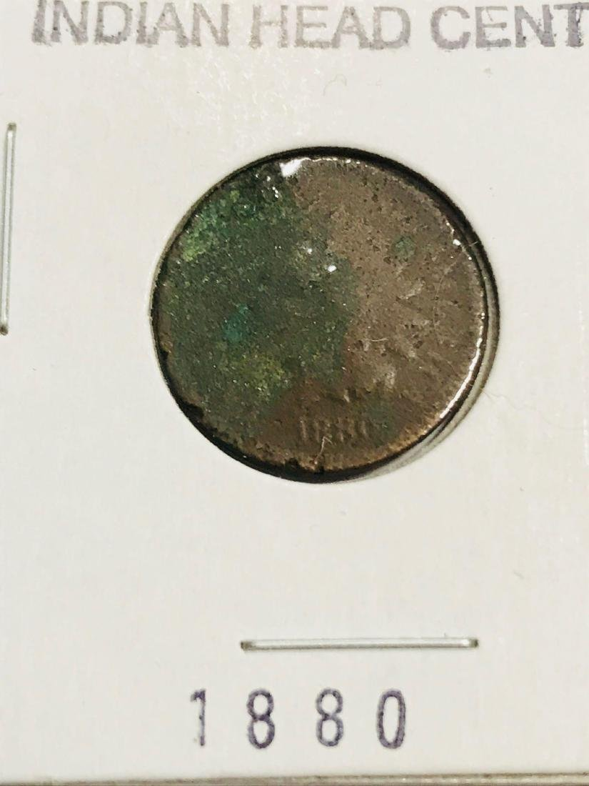 6 Antique Indian Head Penny One Cent Coin - 3