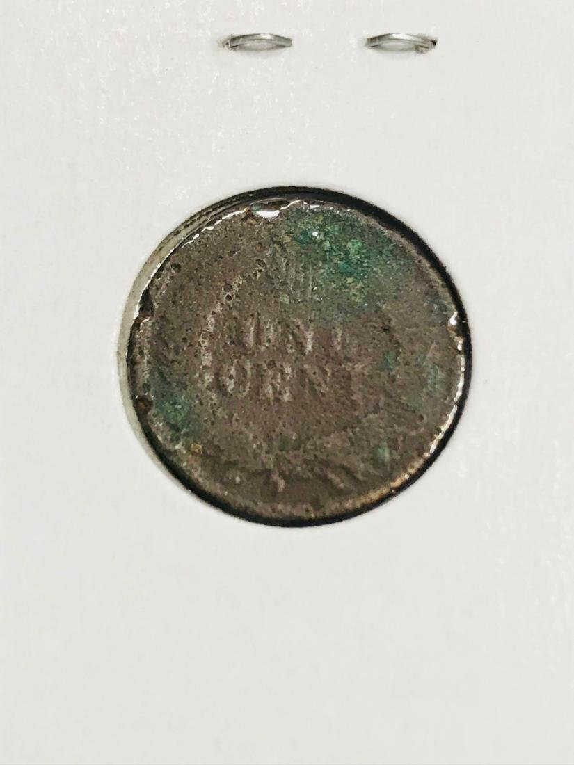6 Antique Indian Head Penny One Cent Coin - 4