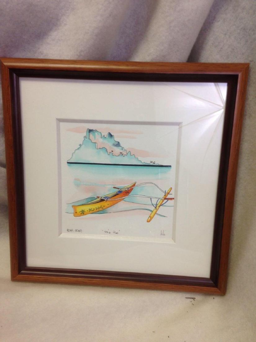 original TI TI watercolor art from Bora Bora