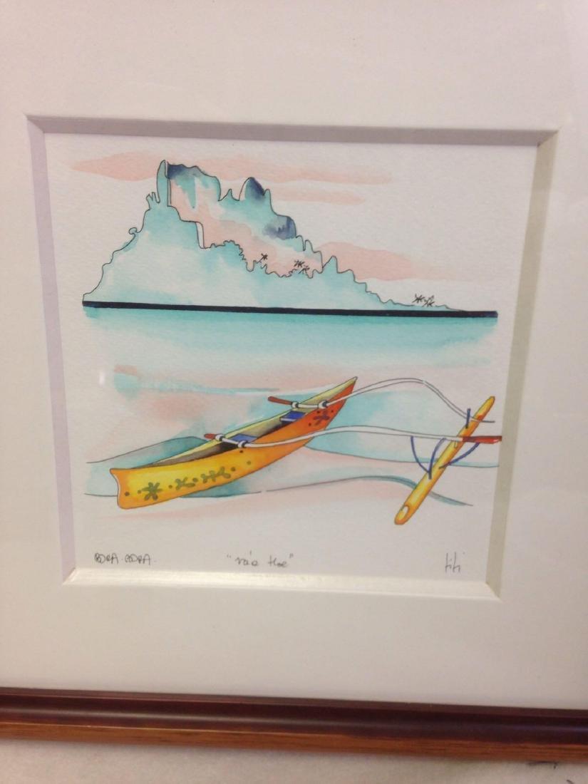 original TI TI watercolor art from Bora Bora - 2