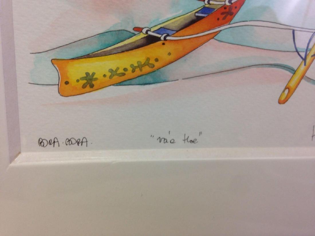 original TI TI watercolor art from Bora Bora - 3
