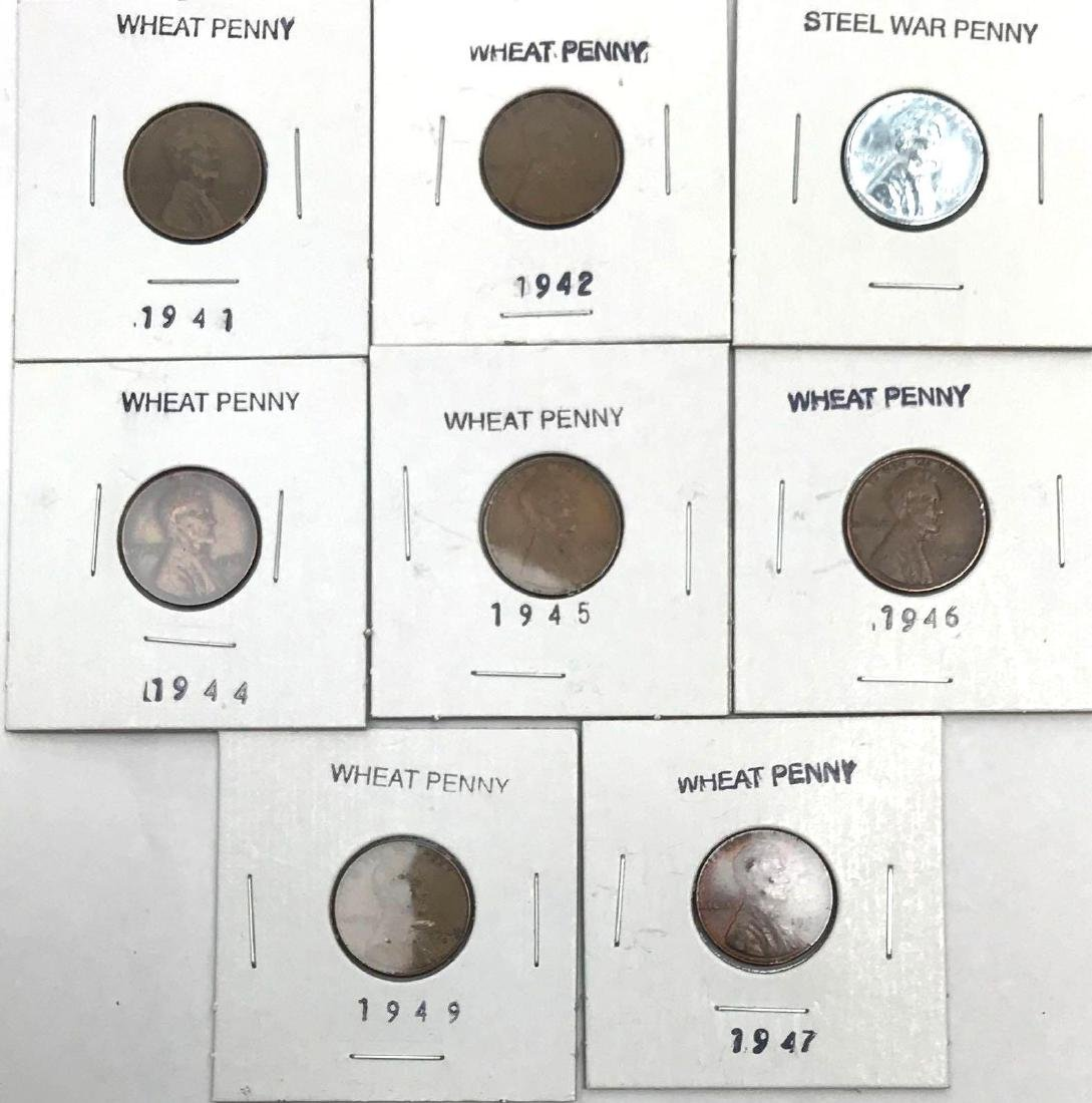 8 Collectible Lincoln Wheat Penny