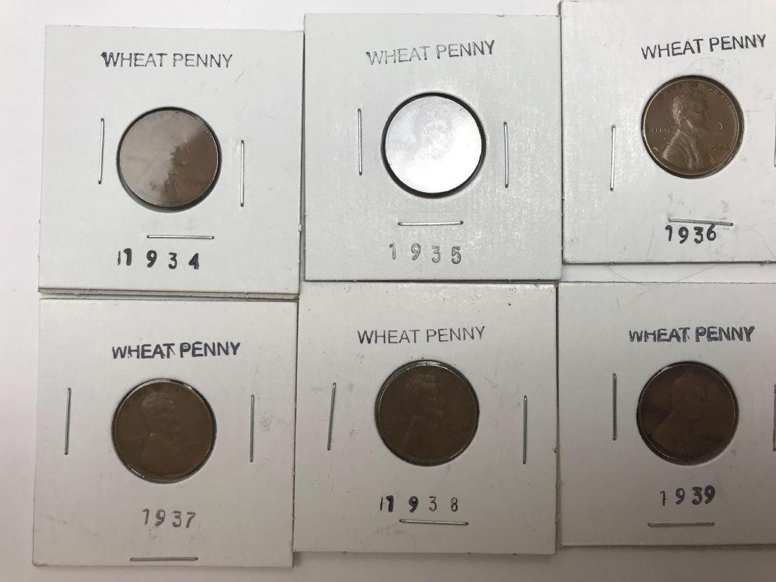 6 Small Cent Lincoln Wheat Penny