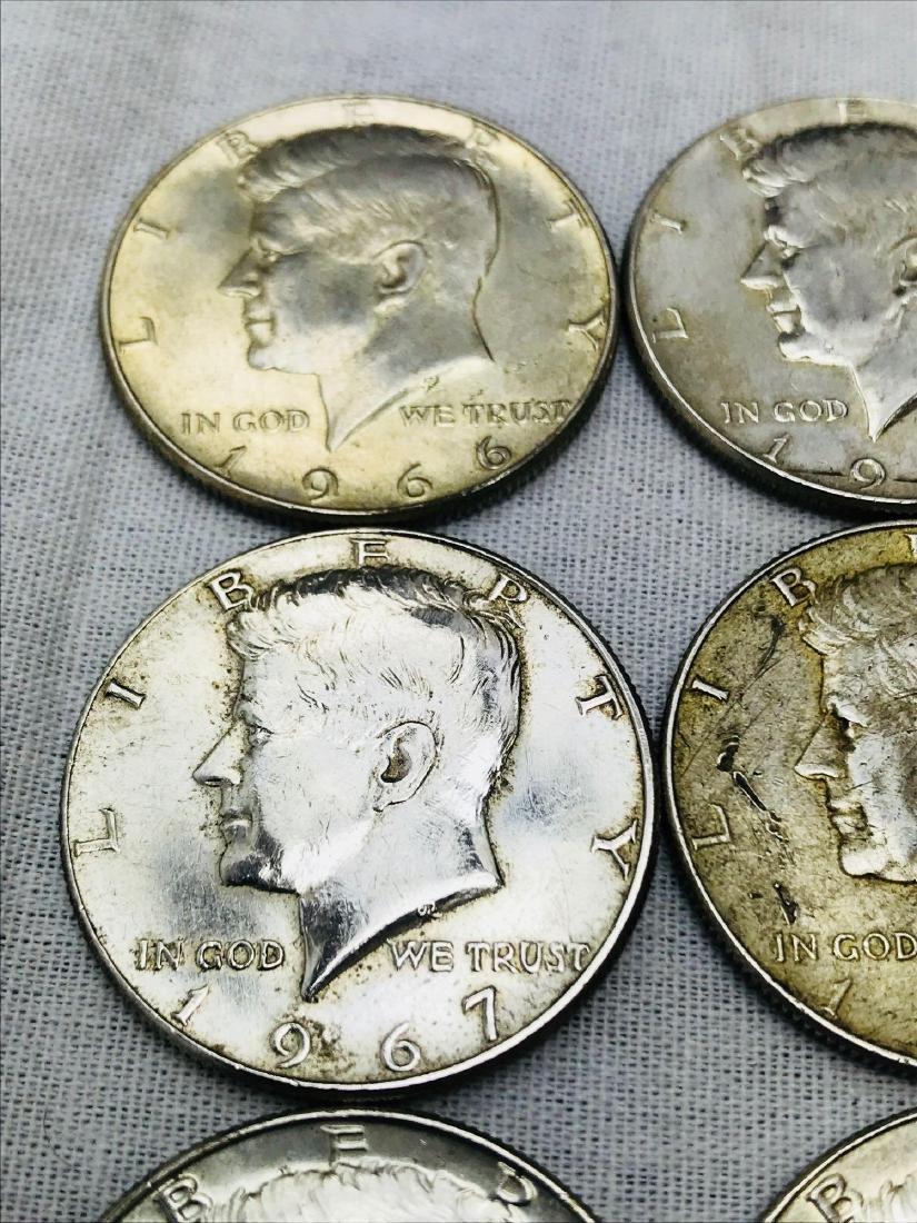 15 Kennedy Half Dollar Coins 1965-69 - 3