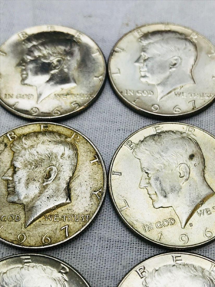 15 Kennedy Half Dollar Coins 1965-69 - 4