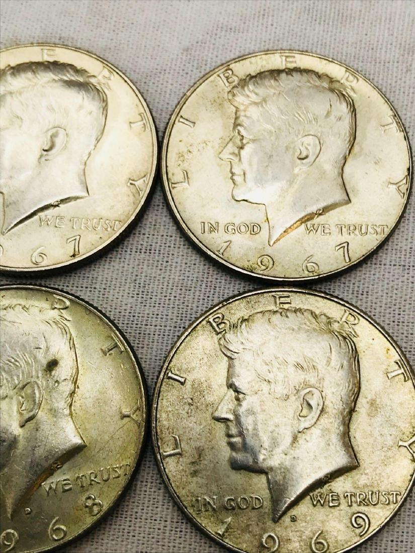 15 Kennedy Half Dollar Coins 1965-69 - 5