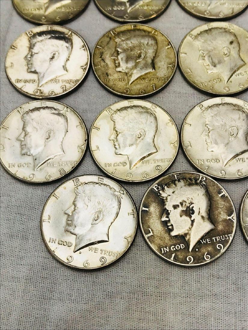 15 Kennedy Half Dollar Coins 1965-69 - 7