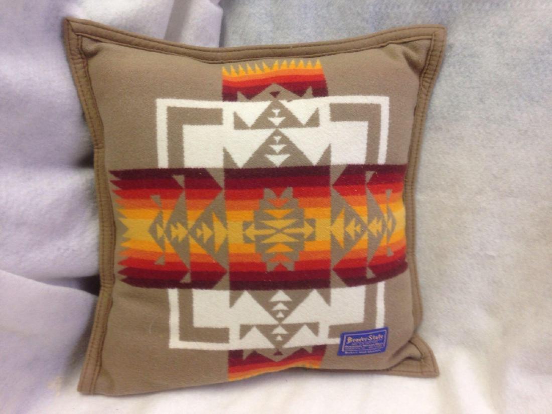 Beaver State Pendleton Wool Navajo Throw Pillow in