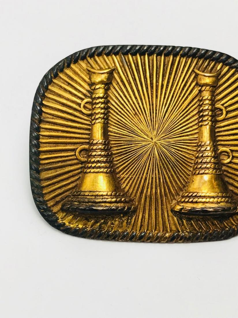 Rare Vintage Fire Department Captains Badge Showing Two - 4