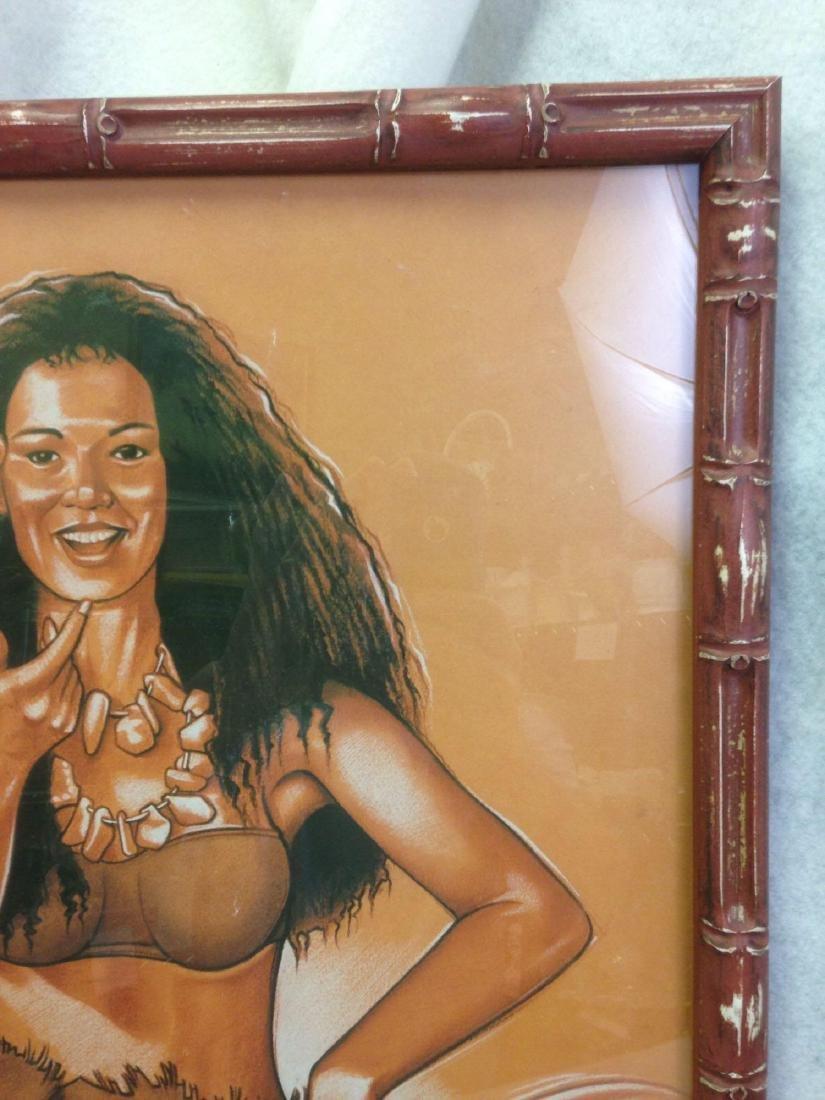 Alain Joannis signed print Polynesian Girl - Tiki - 4
