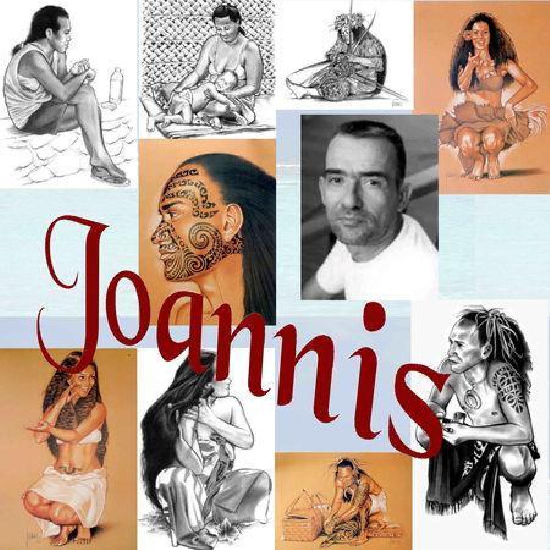 Alain Joannis signed print Polynesian Girl - Tiki - 5