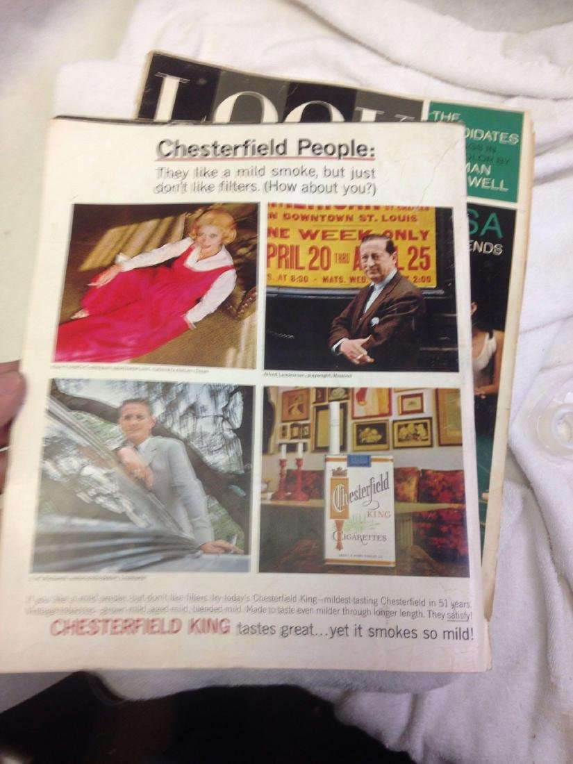 Lot of 2 vintage LOOK MAGAZINE Issues 1964 - 5