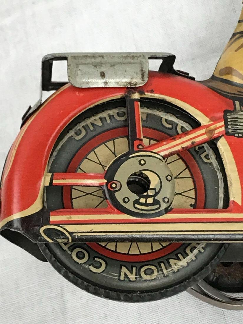 Rare Vintage Tin Type Litho Toy Motorcycle by Arnold - 10