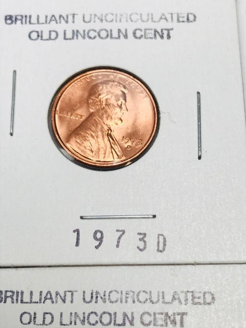 8 Brilliant Uncirculated Old Lincoln Cent - 4