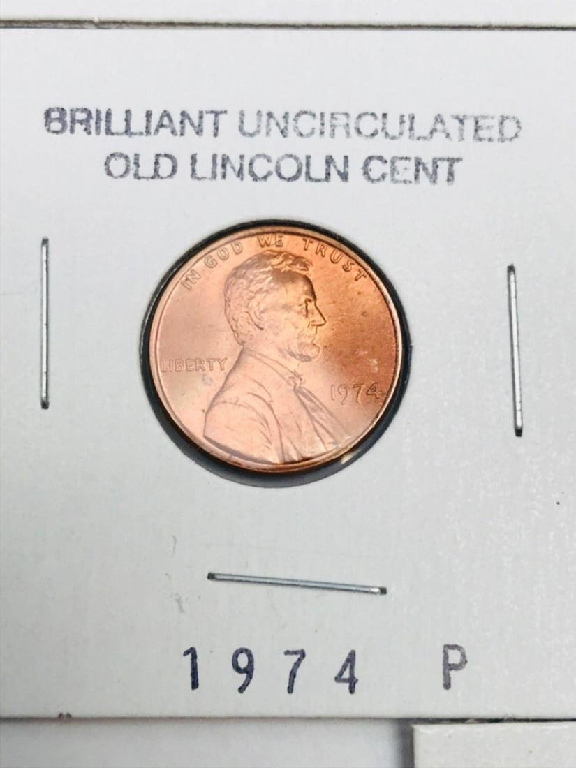 8 Brilliant Uncirculated Old Lincoln Cent - 5