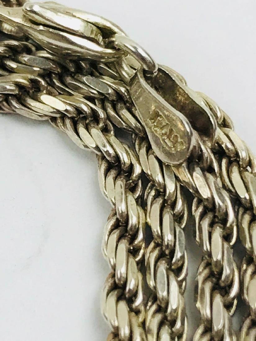 Vintage Italian Sterling Silver Rope Necklace - 3