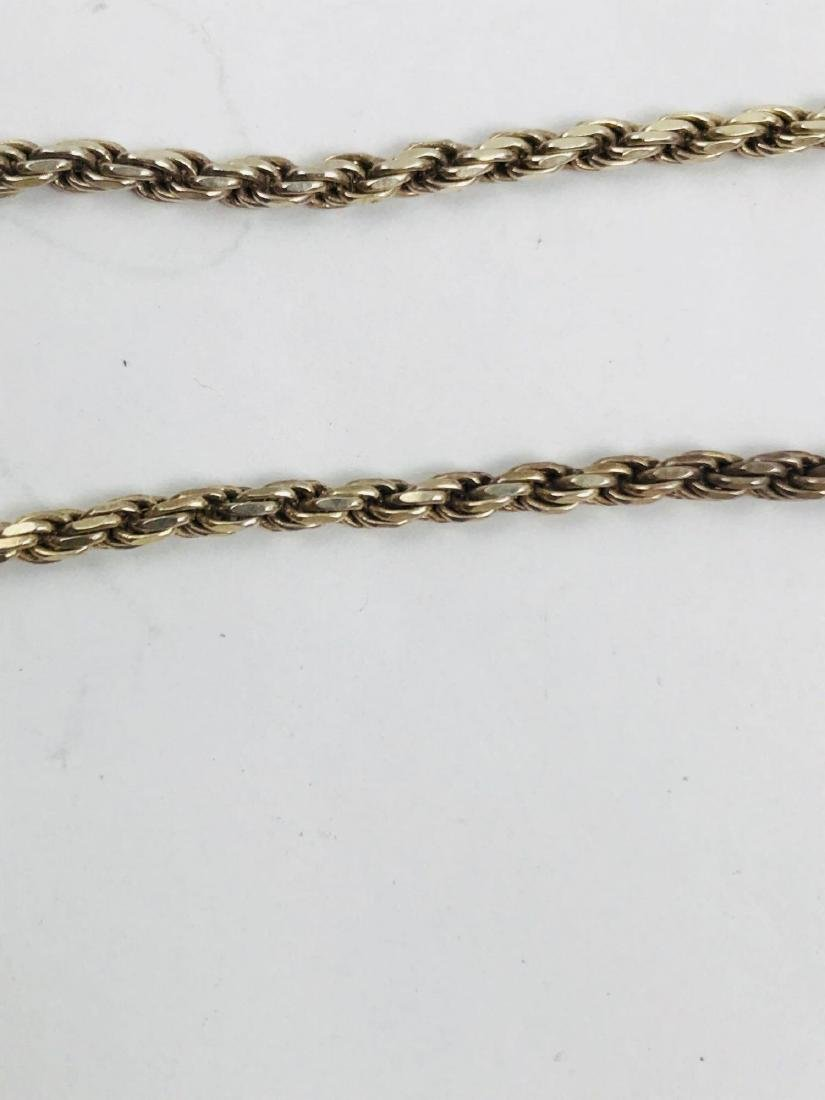 Vintage Italian Sterling Silver Rope Necklace - 7