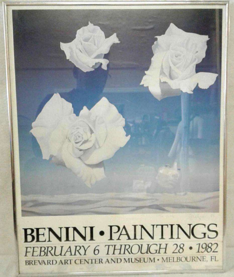 """Framed and Signed """"Benini Paintings"""" Poster"""