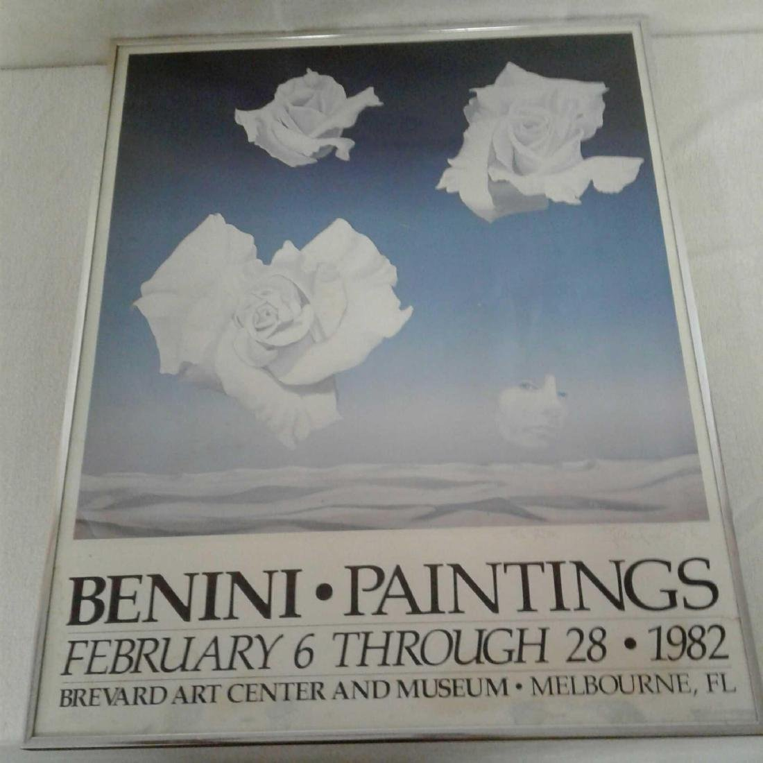 """Framed and Signed """"Benini Paintings"""" Poster - 2"""