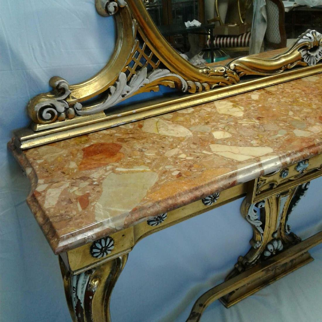 Late Baroque/Rococo Style Console Table with Mirror - 2