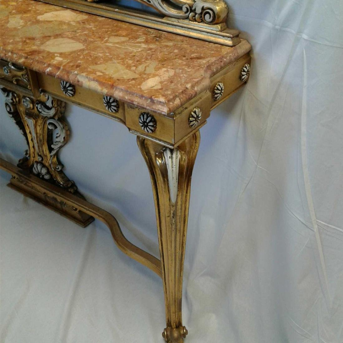 Late Baroque/Rococo Style Console Table with Mirror - 3