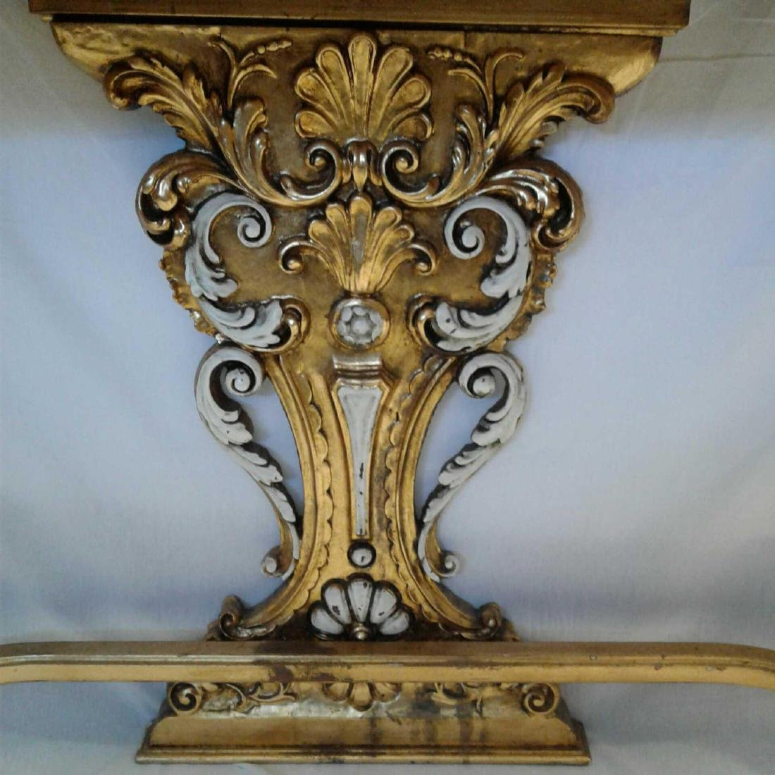 Late Baroque/Rococo Style Console Table with Mirror - 5