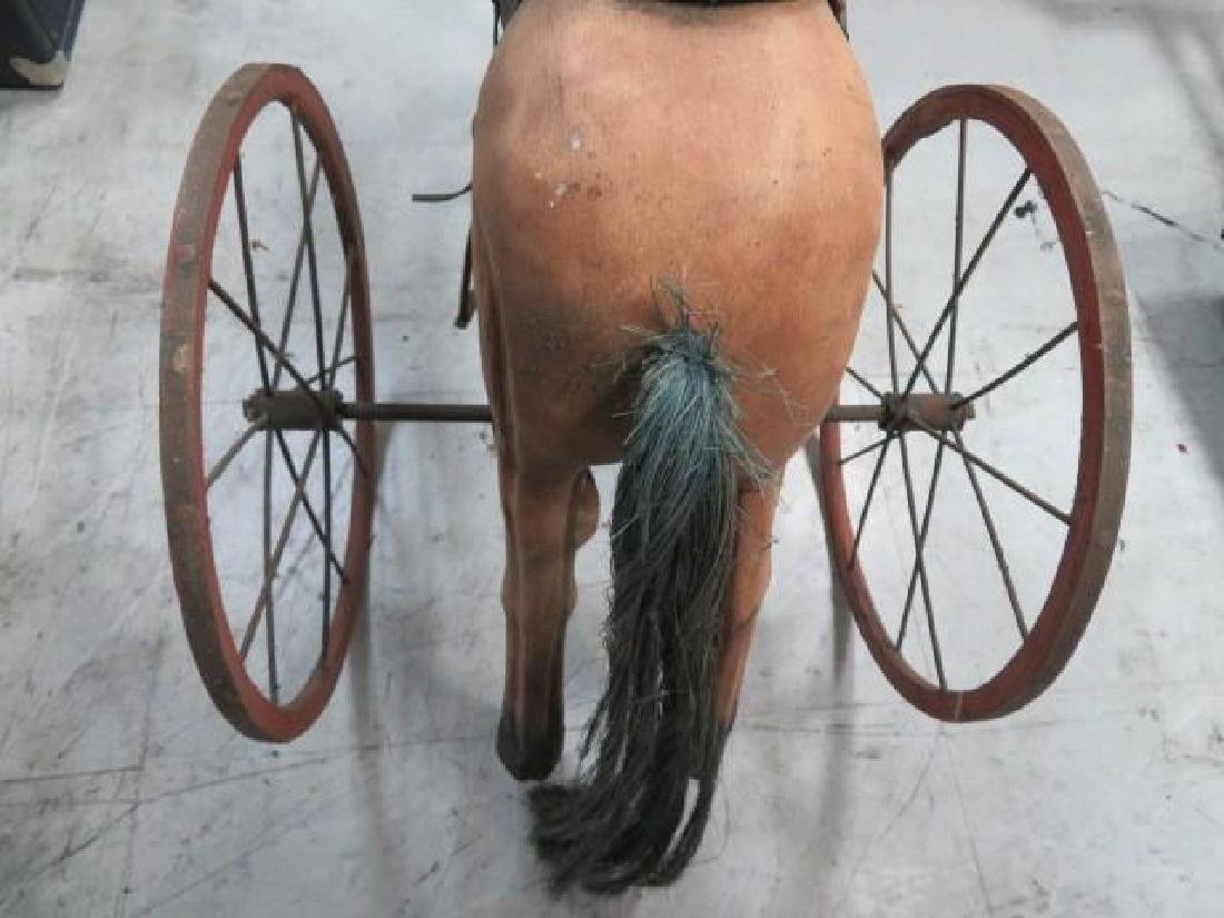 Antique Tricycle Wooden Horse - 5