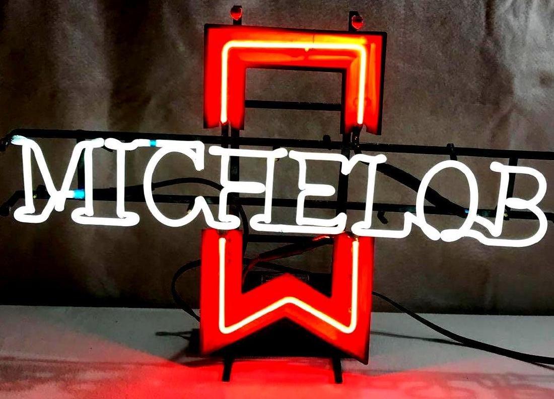 Vintage 1985 Michelob Beer Neon Sign - 8