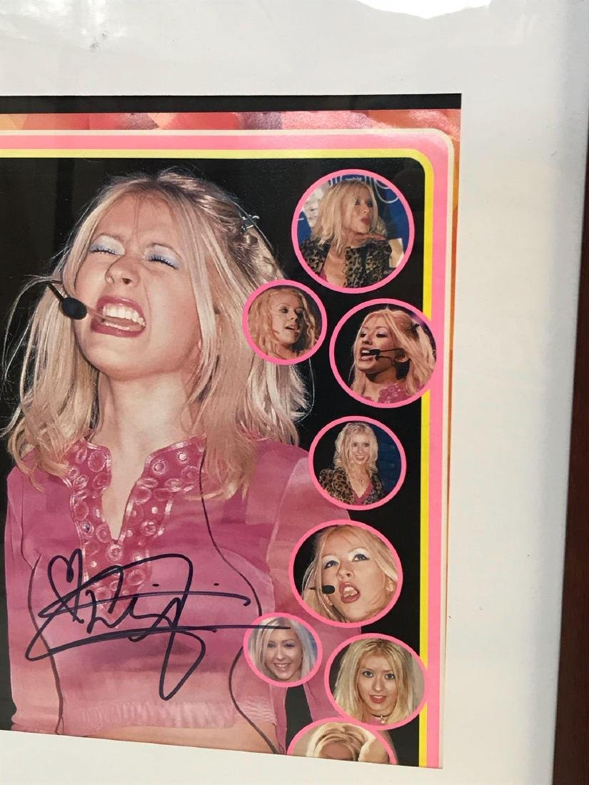 Christina Aguilera Signed and Framed Photograph - 4