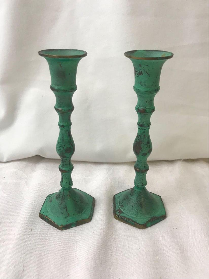 Teal Candle Stick Holders