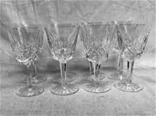 Vintage Waterford Lismore Crystal Stemware 8 Claret