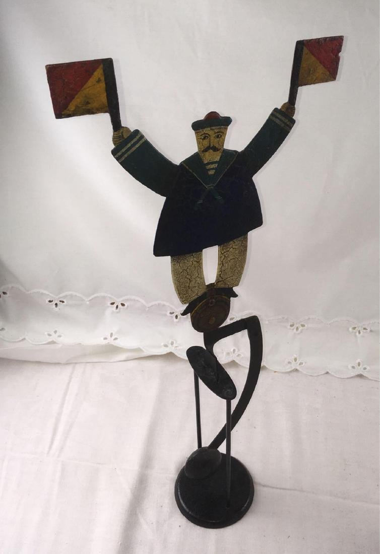Folk Art Balancing Toy Skyhook