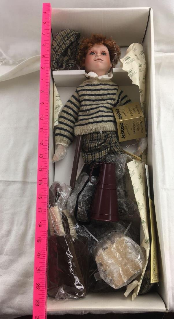 Spanky The Newsboy Seymour Mann Porcelain Doll - 4