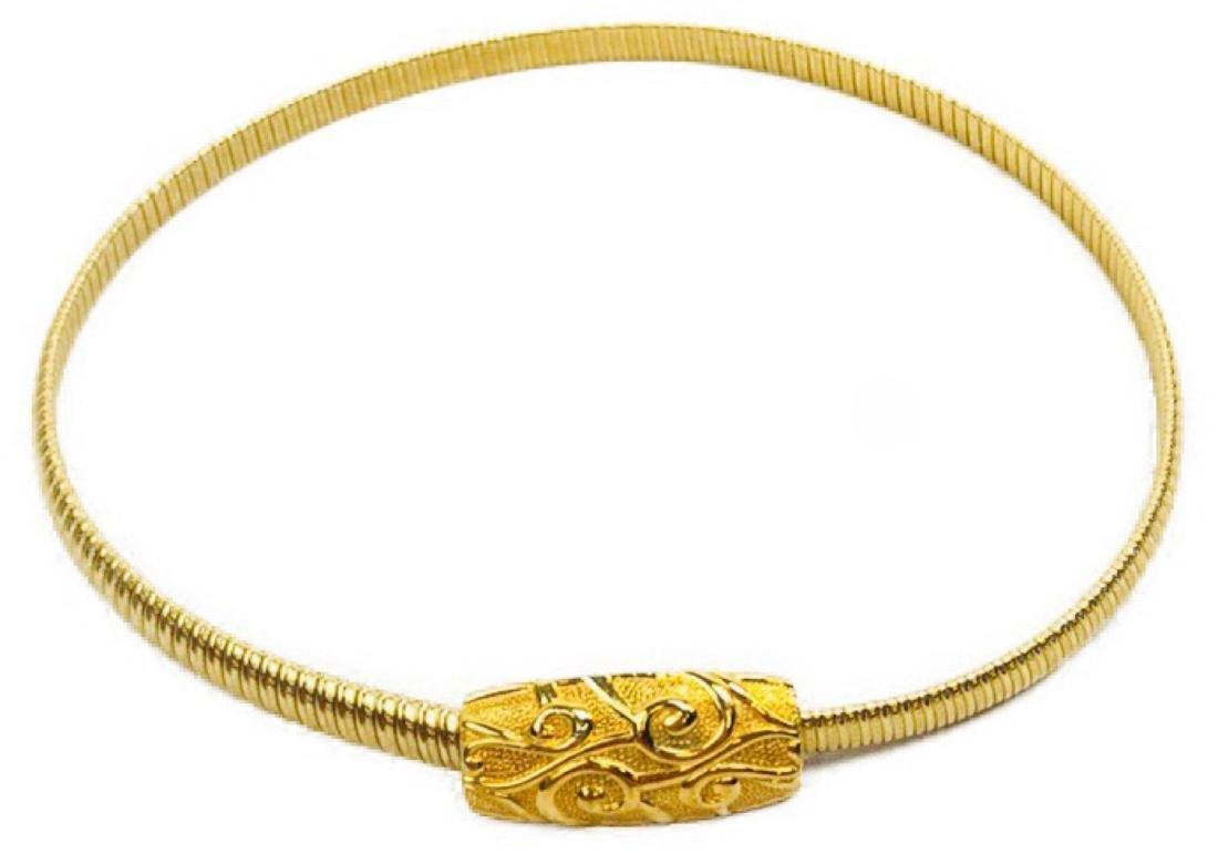 Vintage Day-Lor Accessories Gold Color Stretch Belt