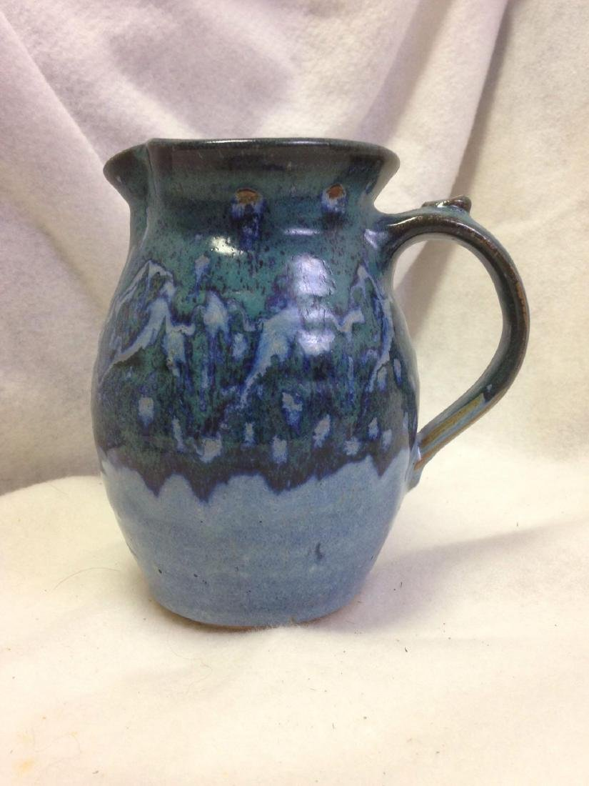 Blue Green Glazed Clay Pottery - American Southwest - P
