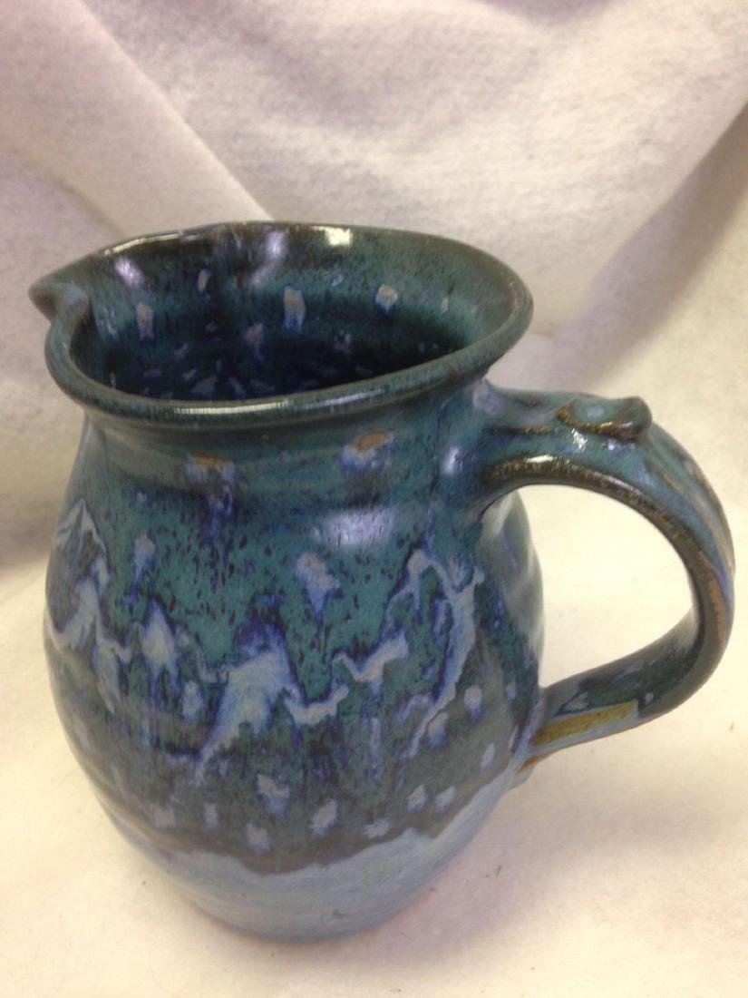 Blue Green Glazed Clay Pottery - American Southwest - P - 2