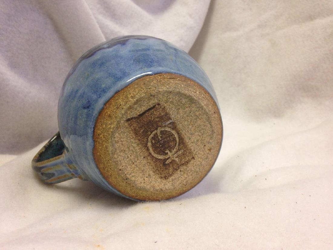 Blue Green Glazed Clay Pottery - American Southwest - P - 4