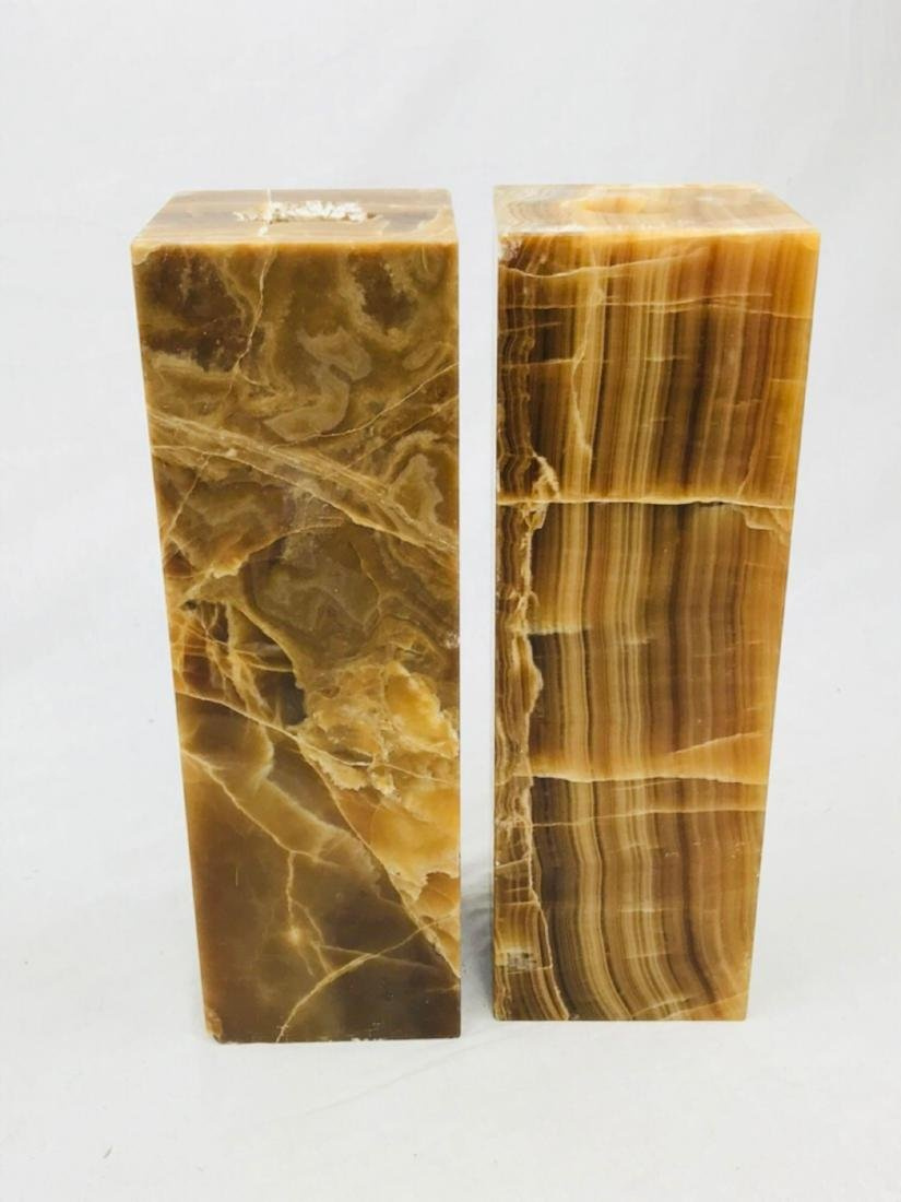 Unique Marble Block Candle Holders