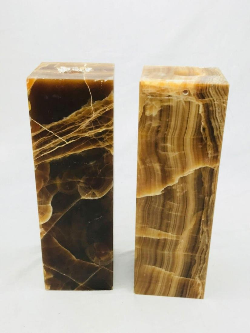 Unique Marble Block Candle Holders - 6