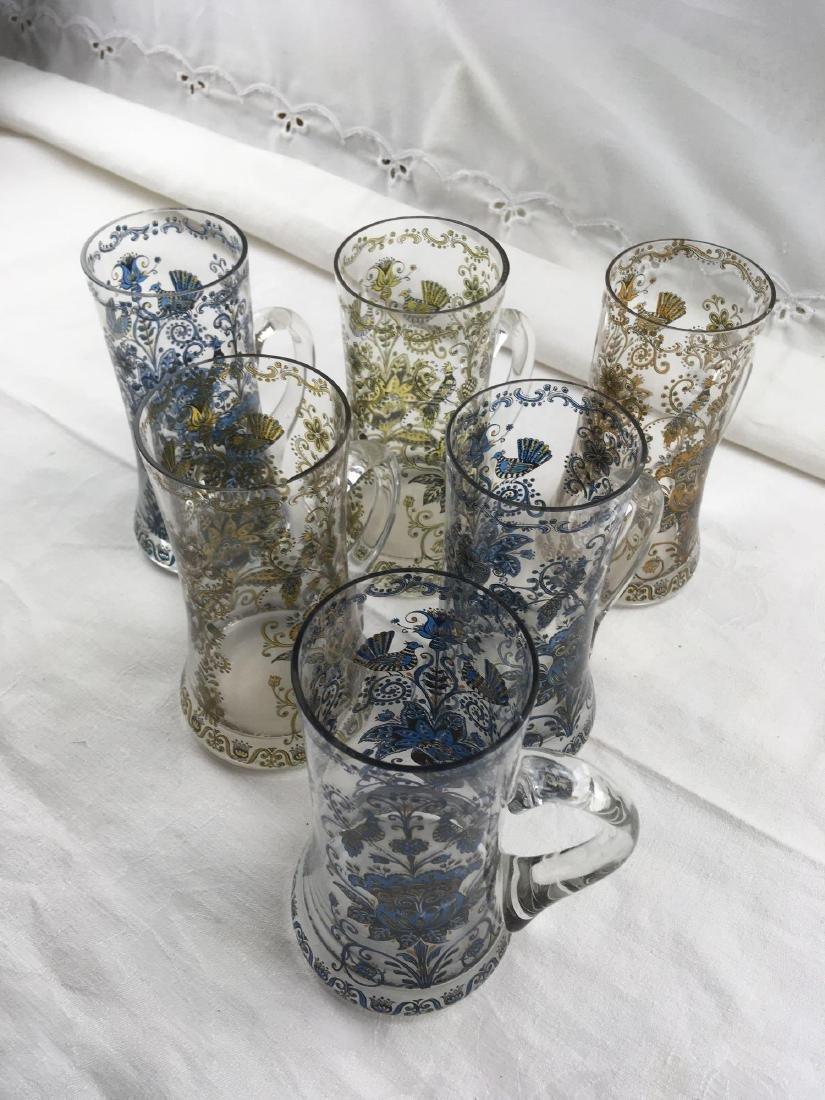 Set of 6 German Beer Glass Beer Mugs