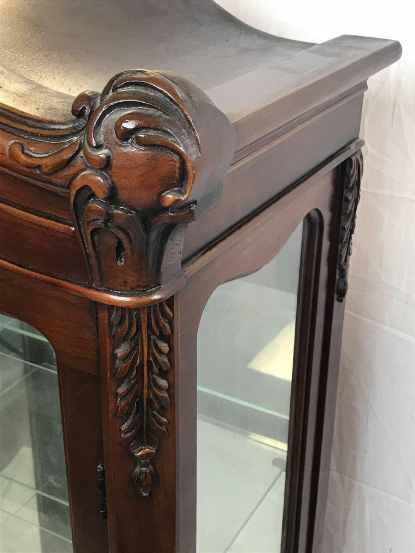Antique Victorian Mahogany and Glass Curio Cabinet - 10
