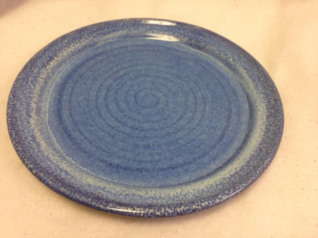 handmade Stoneware Pottery Platter BIG BLUE MARBLE
