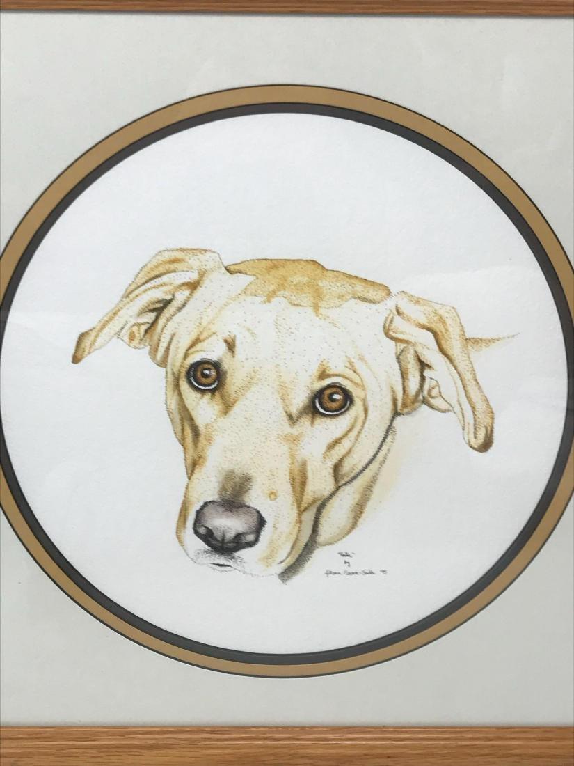 Original Pen and Ink Artwork, Animal Portraiture, Signe - 2