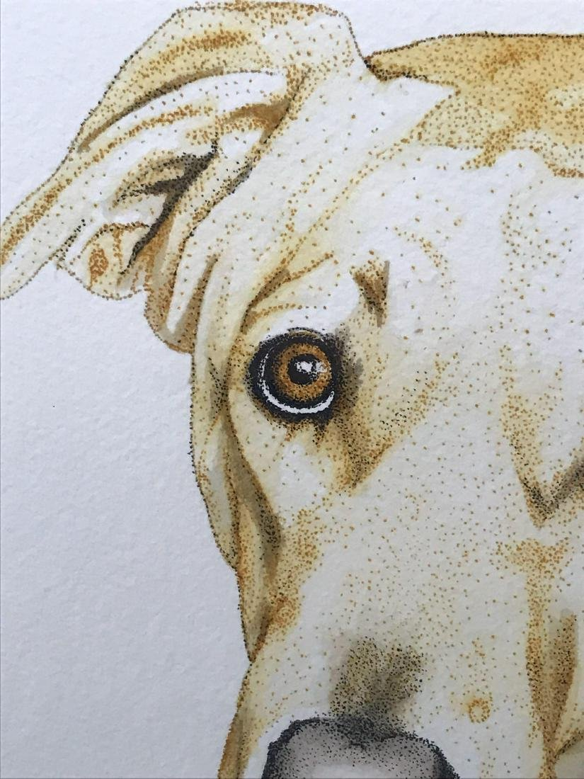 Original Pen and Ink Artwork, Animal Portraiture, Signe - 5